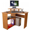 Teknik Office French Gardens Corner Desk With Elevated Monitor Stand And Multi Layer Shelving