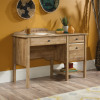 Teknik Office Spanish Style Desk in Antiqua Chestnut Finish with Three Easy Glide Drawers and Contrasting Black Metal Diamond Drawer Handles