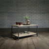 Teknik Office Industrial Style Coffee Table with Durable Black Metal Frame and Charter Oak Effect Shelving
