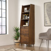 Teknik Office Hampstead Park Narrow Bookcase Grand Walnut Effect Finish Two Fixed Display Shelves Two file Drawers and Sturdy Wooden Feet