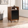 Teknik Office Hampstead Storage Stand with Grand Walnut Effect Finish Storage Shelf Two Easy Glide File drawers and Sturdy Wooden Feet
