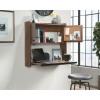 Teknik Office Hampstead Park Wall Desk in Grand Walnut Finish