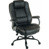 Teknik Office Goliath Duo Heavy Duty Black Bonded Leather Executive Office Chair Padded Armrests Contrast Piping