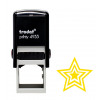 Trodat Teachers Stamp - Gold triple star