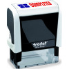 Trodat Office Printy Self Inking Text Stamp COMPLETED 46x18mm Red/Blue