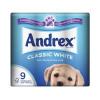 Andrex Toilet Tissue White Ref M01377 Pack of 9