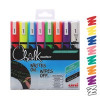 Uni Chalk Markers Medium Assorted (Pack of 8) 153494341
