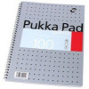 Pukka Pad Notebook Wirebound Editor 80gsmRuled and Margin 4 Hole 100 Pages A4 Ref EM003 Each