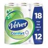 Triple Velvet Toilet Roll Pk 18 White KSCATV18