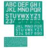 Linex Lettering Stencil Set 10/20/30mm LXG 8500S