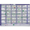 Sasco Premium Perpetual Year Planner 915x610mm With Kit Mounted Ref 2400001 Each