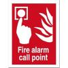 Fire Alarm Call Point Sign Self Adhesive Vinyl 150x200mm Ref FF073SAV Each