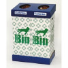 Acorn Waste Paper Twin Recycling Bins 2 x 95 Litre Capacity Ref 802853 Each