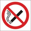 Safety Sign No Smoking Symbol 150x150mm Self-Adhesive P01G/S Each
