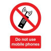 Safety Sign Do Not Use Mobile Phones A5 Self-Adhesive PH01051S Each
