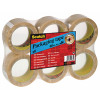 Q-Connect Polypropylene Packaging Tape 50mmx66m Clear (Pack of 6) KF01791