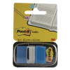 3M Post-it Index Tab 25mm Blue With Dispenser 680-2 (Pack of 50)