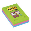 Post-it Super Sticky XXL Lined 102x152mm Ultra Colours Notes (Pack of 3) 660-3SSUC