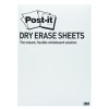 Post-it Dry Erase White Sheet 177 x 288mm DEFPACKS-EU
