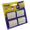 Post-it 4 Colour Strong Index Angled Filing Tabs Pack of 24 686-A1