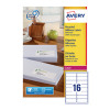 Avery Recycled Laser White Address Label 99.1 x 33.9mm 16 Per Sheet Pack of 1600 LR7162-100