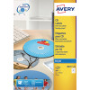 Avery Full Face Inkjet White CD Labels 2 Per Sheet Pack of 50 J8676-25