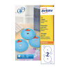 Avery White Full Face CD/DVD Laser Label 2 Per Sheet (Pack of 100) L7676-100