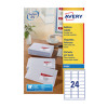 Avery White Inkjet Address Labels 63.5 x 33.9mm 24 Per Sheet Pack of 2400 J8159-100