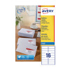 Avery White Inkjet Address Labels 99.1 x 33.9mm 16 Per Sheet Pack of 1600 J8162-100