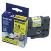 Brother P-Touch 18mm Black on Clear TZE141 Labelling Tape