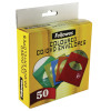 Fellowes CD Envelope Paper Assorted (Pack of 50) 9068901