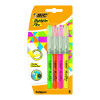 Bic Highlighter Flex Brush Tip Assorted Colours (Pack of 4) 942041