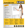 5 Star Office Flipchart Pad Perforated 40 Sheets A1 Plain [Pack 5]