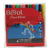 Berol Colourbrush Pen Assorted Water Based Ink (Pack of 12) CBR12W12 S0375830