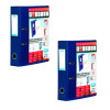 Elba Vision Lever Arch File 70mm A4 Blue (Pack of 2) BX810428