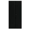 2 Door Cupboard Black 1985mm Empty KF78717