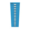 Bisley 39 15 Non-Lock Multidrawer Azure Blue BY78741