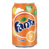 Fanta Orange Soft Drink 330ml Can 402006 (Pack of 24)