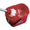 Red Plastic Mop Bucket with Wringer 15 Litre 102946RD