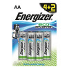 Energizer EcoAdvanced Alkaline AA Batteries E91 (Pack of 4) + 2 Free) E300135600