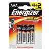 Energizer MAX E92 AAA Batteries (Pack of 4) + 2 Free) E300142400