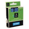 Dymo Black on Blue 1000/5000 D1 Standard Tape 9mmx7m S0720710