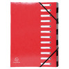 Exacompta Iderama 12 Part File Red 53925E