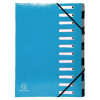 Exacompta Iderama 12 Part File Light Blue 53927E