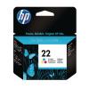 HP 22 Cyan/Magenta/Yellow Inkjet Cartridge C9352AE