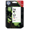 HP 56/57 Black /Cyan/Magenta/Yellow Ink Cartridges (Pack of 2) SA342AE