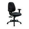 Cappela Wave Radial High Back Posture Black Chair KF71361