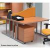 Jemini Wave 800mm Black Desk Screen KF73920