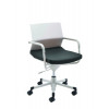 Arista Soho Swivel Chair White and Blue KF74191