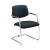 Arista Cantilever Fabric Executive Visitor Black Chair KF74499